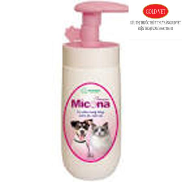 [Giá rẻ] Sữa Tắm Đặc Trị Viêm Nang Lông Viêm Da Nấm Da Cho Chó Mèo Micona Vemedim 200ml
