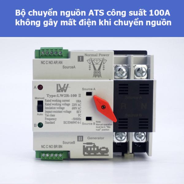 [KHÔNG GÂY MẤT ĐIỆN] Bộ đổi 2 nguồn điện tự động ATS 2P 100A (LW)- cầu dao đảo chiều- át chuyển nguồn- bộ chuyển nguồn ats