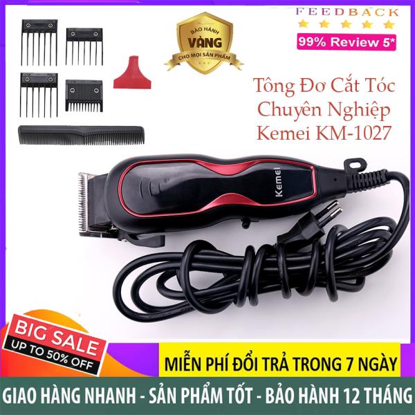 Tông đơ Cắt tóc có dây chuyên nghiệp Kemei KM-1027 cắt tóc gia đình, cắt tóc trẻ em người lớn Tặng Kèm Phụ Kiện Hấp Dẫn