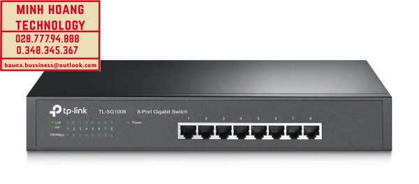 Bảng giá Bộ chuyển đổi tín hiệu Switch 8 cổng Gigabit TL-SG1008 Phong Vũ