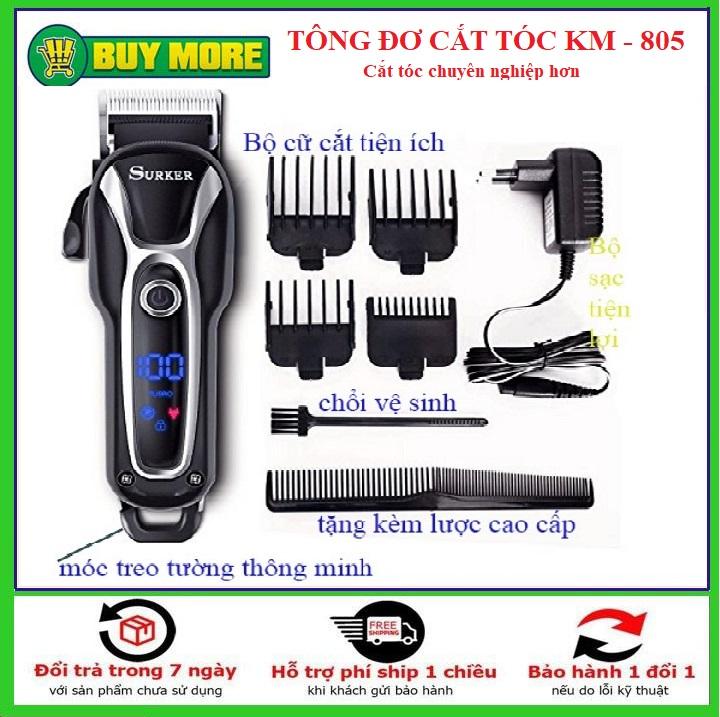 Tăng đơ, tông đơ cắt tóc người lớn và hớt tóc trẻ em Suker SK-805 cao cấp, tông đơ cắt tóc chấn viền chuyên nghiệp không dây giá rẻ hơn codos,philips,jichen,surker,fade...(màu đen) giá rẻ