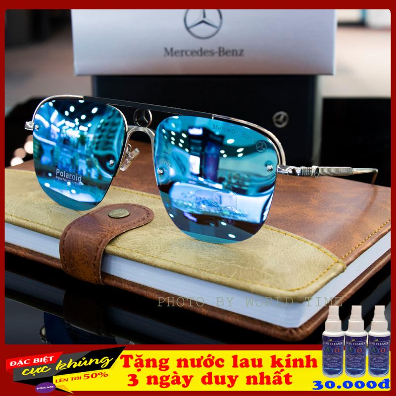 Mua Kính mát nam Benz-4 thời trang cao cấp ,full box, tròng Polazied, chống lóa , chống tia UV cực tốt