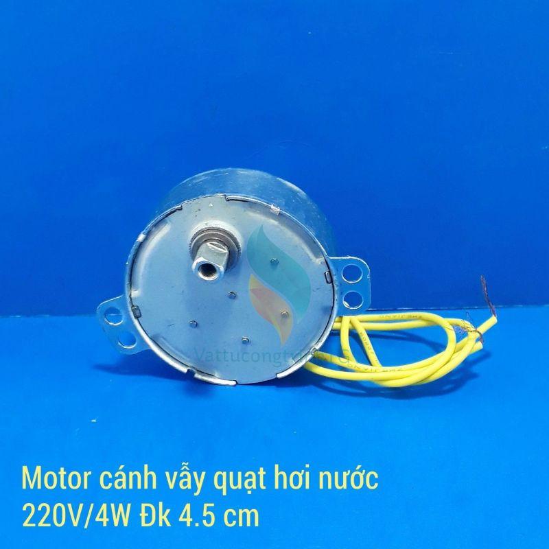 Motor cánh vẫy quạt làm mát ĐK 45mm, 220V/4W, 2.5/3rpm trục to