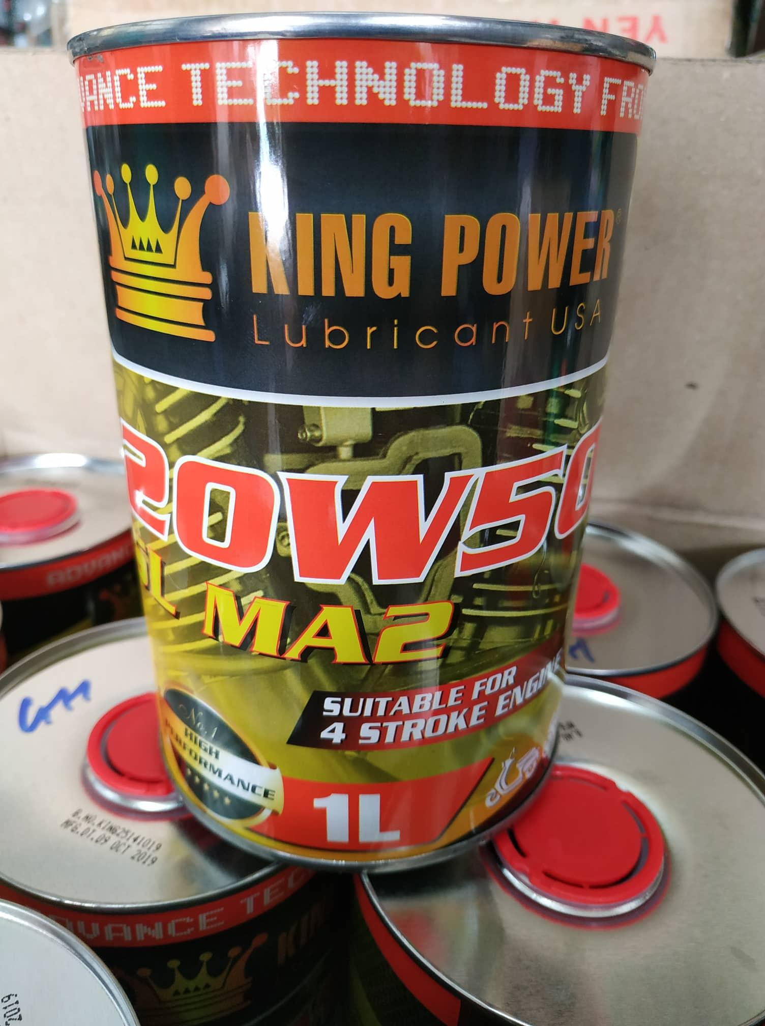 Voucher tại Lazada cho NHỚT LON MỸ KING POWER 20W50