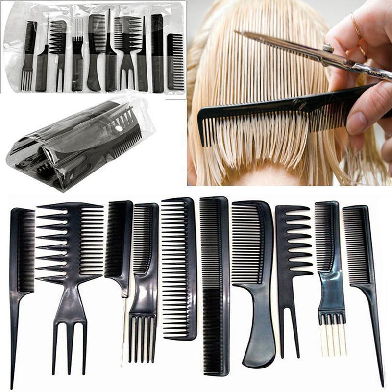 10 chiếc nhựa thân thiện với môi trường Lược chống Chải Massage Lược tóc tĩnh cắt điện U8V4 cao cấp