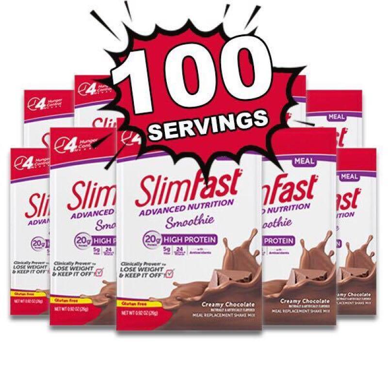 Gói Dinh Dưỡng Thay Thế Bữa Ăn Giảm Cân SLIMFAST ADVANCED NUTRITION SMOOTHIES 30 Fram (1 Gói) cao cấp