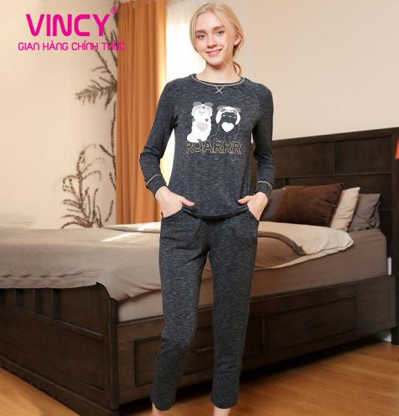Bộ thun dài Vincy in hình xinh xắn BTD260W91