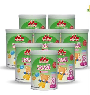 Thùng 8 lon Sữa Morinaga Số 3 Kodomil Cho Bé Từ 3 Tuổi - Hương dâu 850gr (Tách đai, date T12 2021) thumbnail