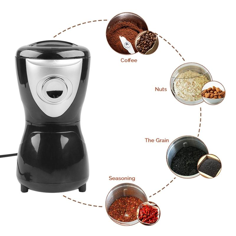 Electric Coffee Grinder 400W Coffee Bean Grinder Eco-Friendly Spices Seeds Grinder Mini Kitchen Coffee Grinding Machine(EU Plug)