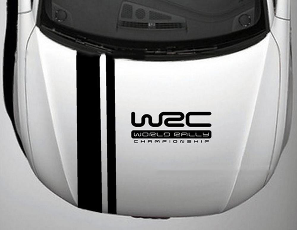 Deal Khuyến Mại Tem Dán WRC Trên Capo Xe ô Tô Phong Cách Thể Thao