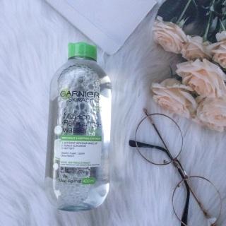 Nước tẩy trang Garnier Micellar cleansing water 400ml, nước tẩy trang cho da thường, nước tẩy trang cho da khô, nước tẩy trang cho da hổn hợp, nước tẩy trang cho da nhạy cảm, nước tẩy trang cho da mun, dầu, hàng Đức chính hãng thumbnail