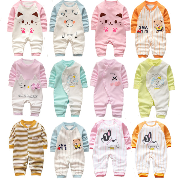 Body suit cotton liền quần dài tay bé trai bé gái (áo liền quần, body suit, sleep suit, body thu đông)(Hàng Quảng Châu xuất Hàn) TTS170