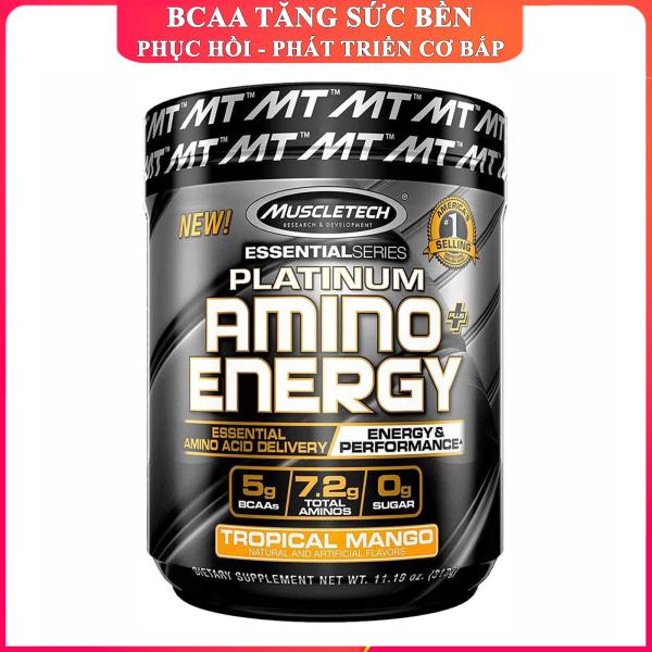 BCAA Platinum Amino Plus Energy của Muscle Tech hộp 30 lần dùng hỗ trợ tăng cơ tăng sức bền sức mạnh đốt mỡ giảm cân mạnh mẽ phục hồi cơ nhanh chóng cho người tập GYM và chơi thể thao thao