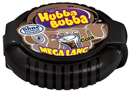 Kẹo gum ( cao su ) cuộn Hubba Bubba Mega lang dài 180cm vị cola ( Mẫu mới - Nội địa Gemany - Xách tay Đức )