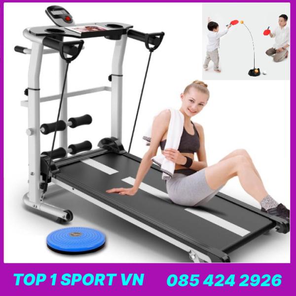 Máy tập chạy bộ cơ đa năng Elipsport® tặng kèm Bóng bàn cao cấp + Bàn xoay eo + Giá đỡ tập cơ bụng + dây cáp co giãn - Bảo hành 12 tháng