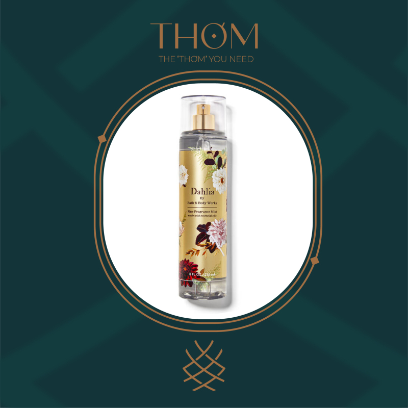 DAHLIA   Sản Phẩm Xịt Thơm Toàn Thân Bath & Body Works nhập khẩu