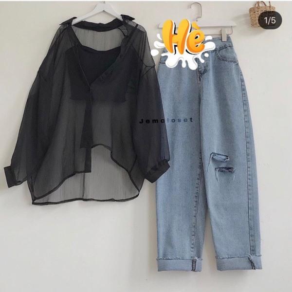 Nơi bán (Giao hàng dự kiến từ 13/08) Set quần baggy+ sơ mi cặp, thiết kế đa dạng mẫu mã, form dễ mặc, thoải mái, đường may tỉ mỉ, tinh tế