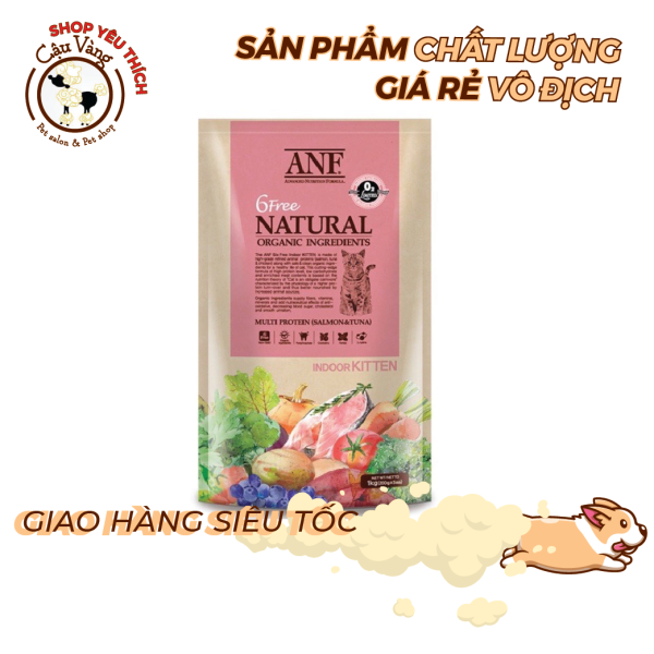 [ 200Gr & 400Gr]Hạt ANF 6Free Indoor Cho Mèo Con