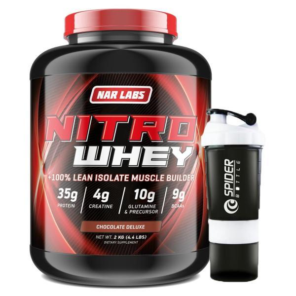 Combo Sữa tăng cơ, giảm mỡ - Nitro Whey - Narlabs Nutrition - 2kg & Bình lắc 700 ml