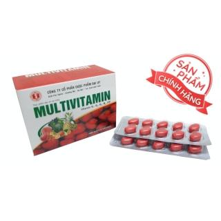 viên uống Multivitamin - Giúp bổ sung Vitamin B1, B2, B5,B6,PP, tăng cường sức khỏe, tăng cường hấp thu, hồi phục cơ thể- hộp 100 viên thumbnail