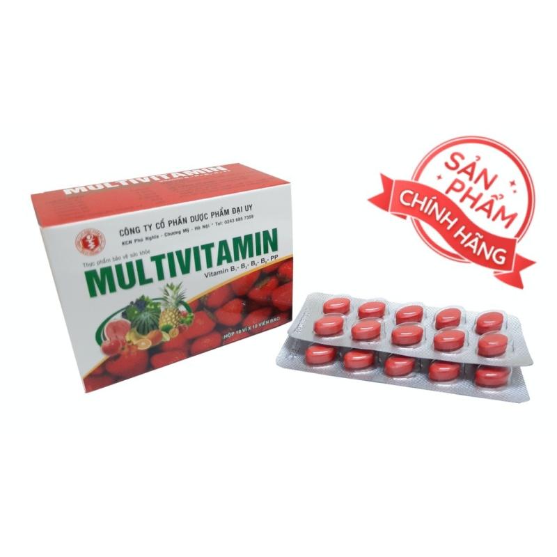 viên uống Multivitamin - Giúp bổ sung Vitamin B1, B2, B5,B6,PP, tăng cường sức khỏe, tăng cường hấp thu, hồi phục cơ thể- hộp 100 viên giá rẻ