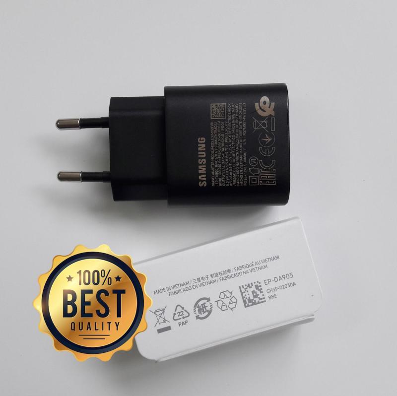 Bộ sạc siêu nhanh Samsung A70 25W (Cam kết sạc ZIN bóc máy) (Adaptor 25W đen nhám + Cable chuẩn C to C) (Super Fast Charging)