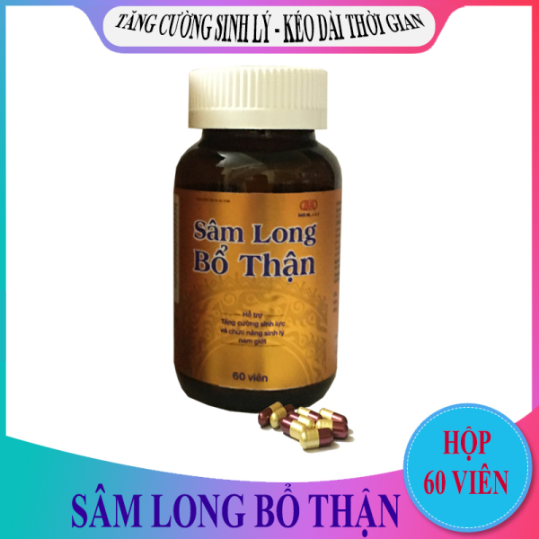 Sâm Long Bổ Thận (Hộp/60 Viên) - Hỗ trợ điều trị xuất tinh sớm, yếu sinh lý, đau lưng, mỏi gối - Hỗ trợ tăng cường chức năng sinh lý nam giới - Bồi bổ sinh lực sức khỏe - Giúp bổ thận, tráng dương, mạnh gân cốt