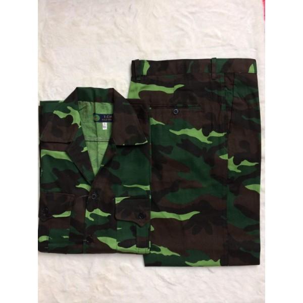 Giá bán bộ quần áo bảo hộ rằn ri
