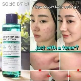 phẩm xóa bỏ mụn thâm Some By Mi AHA-BHA-PHA 30 Days Miracle Acne toner, serum full size thumbnail