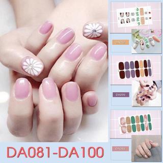 Bộ dán móng tay nail sticker gồm 14 móng mã DA081 - DA0100 thumbnail