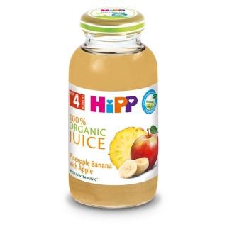 Sinh tố Táo, Dứa, Chuối, Vitamin C Hipp cho trẻ từ 4 tháng tuổi trở lên (6 chai x 200ml lốc) thumbnail