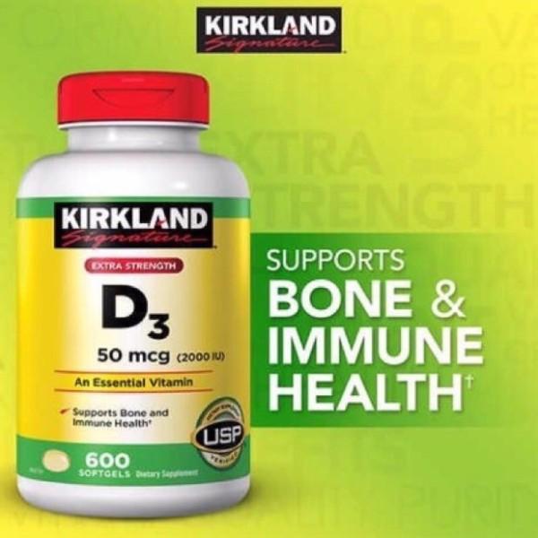 🌝🌻Viên Uống Kirkland Vitamin D3 2000Iu 600 Viên🌝🌻 cao cấp