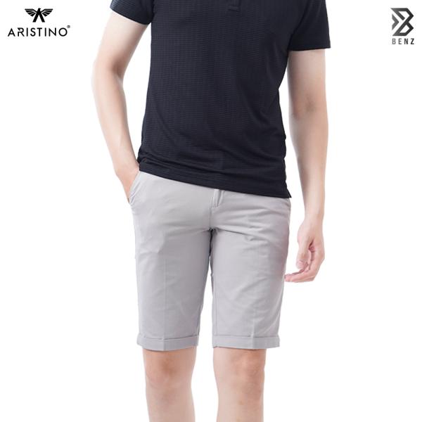 Quần short đùi kaki nam cotton cao cấp Aristino, Benzmen ASO053S8 3 màu BE, Xám và Cam,kiểu dáng Slim Fit trẻ trung, tôn dáng.