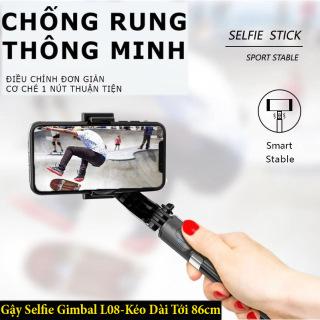 Gậy Chụp Ảnh Chống Rung Gimbal Stabilizer L08 Cao Cấp, Chụp Ảnh Không Giới Hạn, Chụp Hình-Quay Video Sắc Nét, Tay cầm Gimbal Bluetooth Chống Rung 3 Trục Cho Điện Thoại, Quay Youtube, Selfie Stick Tripod, Kéo Dài 86cm Dũng YenLuong thumbnail