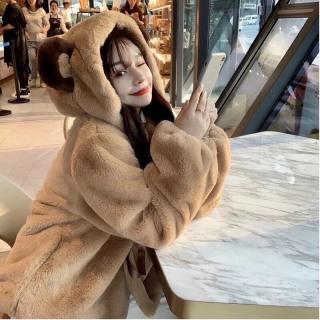 [Ảnh thật] Áo Lông Gấu Nữ Buộc Nơ Đáng Yêu Hottrend 2021 THỜI TRANG HÀN QUỐC thumbnail