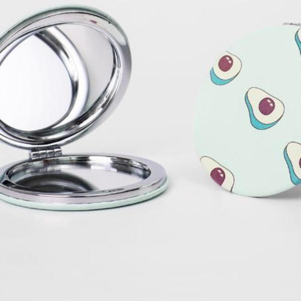 Gương tròn mini 2 mặt - Gương tròn 2 mặt - gương cầm tay bỏ túi - dcpxtrangphamsg giá rẻ