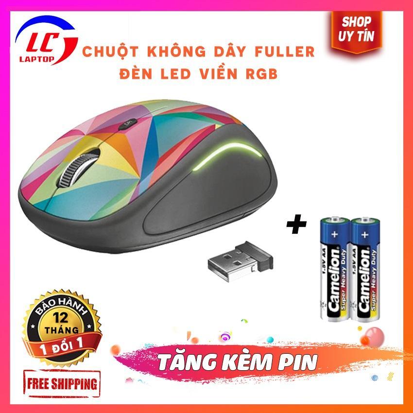 Giá Chuột không dây fuller FM02(nhiều mầu sắc)-led viền RGB,kèm sẵn pin,chuột không dây,chuột không dây giá rẻ - laptoplc