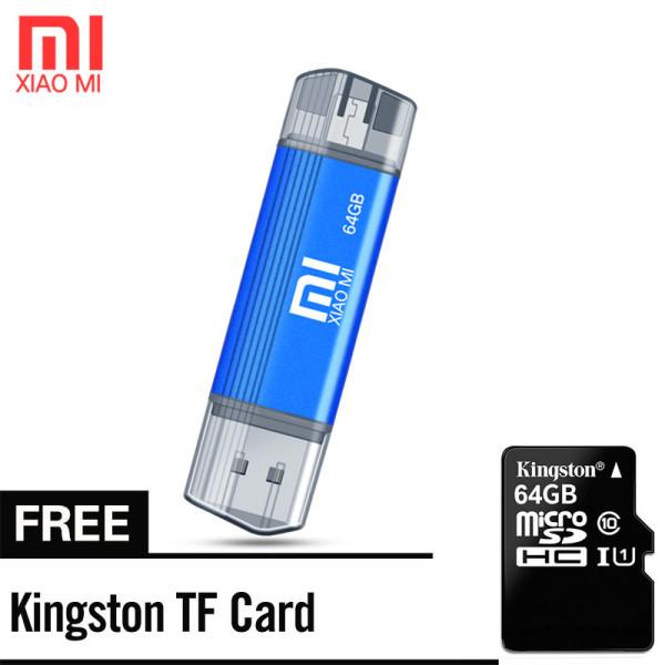 Giá Xiaomi 64GB 2 trong 1 Micro Usb Otg Flash Ổ USB 3.0 Kẽm Kim loại U Đĩa Chọn Máy tính xách tay Pc của bạn Điện thoại thông minh Tv Điện thoại Android với Xiaomi OTG miễn phí