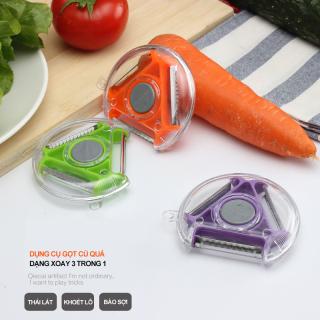 Dụng cụ gọt vỏ 3 trong 1 đa chức năng tiện dụng cho nhà bếp thiết kế thông minh dễ sử dụng thumbnail
