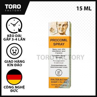 (Chai 15ml) Xịt Kéo Dài Thời Gian Quan Hệ Hỗ Trợ Xuất Tinh Sớm Procomil Spray Đức - TORO FACTORY thumbnail