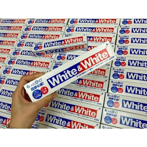Kem đánh răng Nhật Bản White and White 150g - KDR Lion trẻ em cam kết sản phẩm đúng mô tả chất lượng đảm bảo giá rẻ