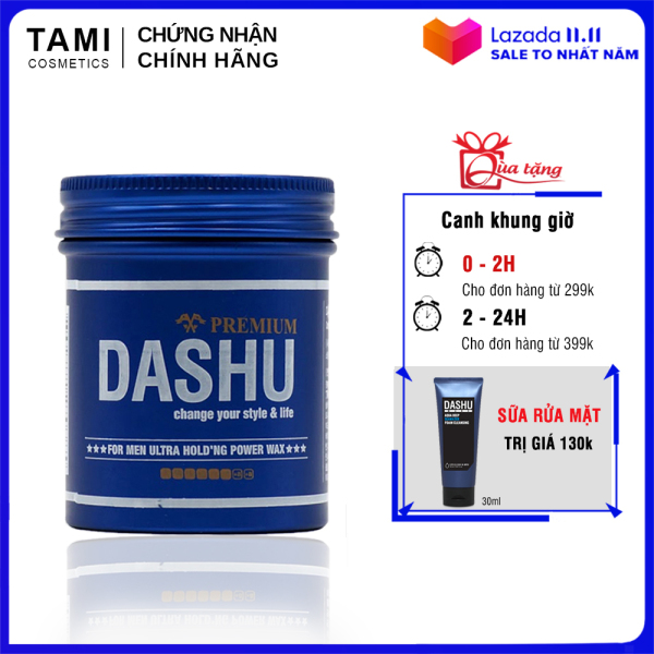 Sáp vuốt tóc nam DASHU For Men Premium Ultra Holding Power Siêu cứng Siêu giữ nếp 100ml TM-SAP01