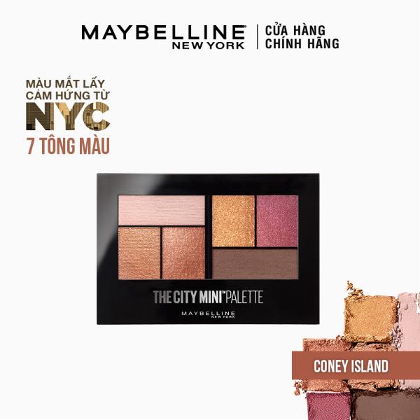 Bảng phấn mắt mịn lì lên màu chuẩn Maybelline New York City Mini Palette 6 màu [Mới] giá rẻ