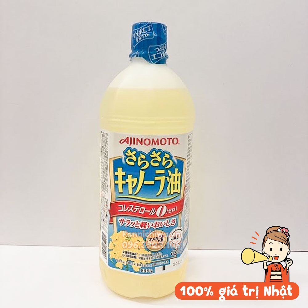 Dầu Ăn Hoa Cải AJINOMOTO Nhật Bản 1l| Dầu ăn Hạt Cải AJINOMOTO