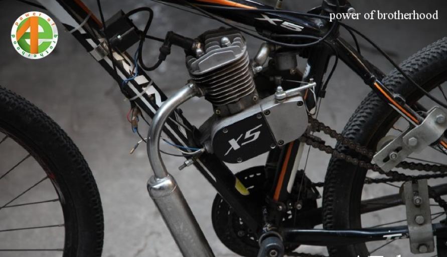 Mua động cơ gắn xe đạp chạy xăng, động cơ xăng 2 thì chế xe đạp 80cc