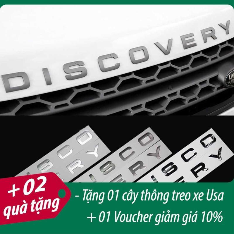 Sticker, Decal Và Miếng Trang Trí Trên Cản Xe – Bộ Logo DISCOVERY Chữ Nổi 3D Cao Cấp - Màu Đen/Màu Bạc/Màu Crôm + Quà Tặng Túi Thơm Cây Thông Treo Xe