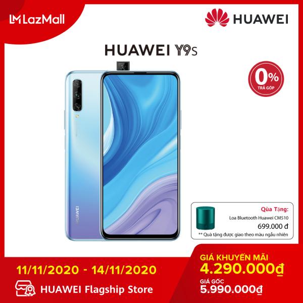 TRẢ GÓP 0% - Điện thoại Huawei Y9s (6GB/128GB)-Kirin 710F-Màn hình tràn viền 6.59 inch Camera selfie 16 MP bật lên tự động-Dung lượng pin lớn 4000mAh - Tặng kèm loa bluetooth Huawei CM510 màu xanh trị giá 699k từ ngày 11/11 đến hết 14/11