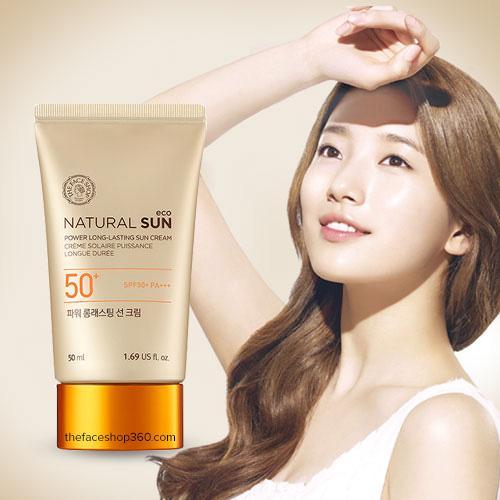 Kem chống nắng Natural Sun Cream SPF50+ TheFace Shop nhập khẩu