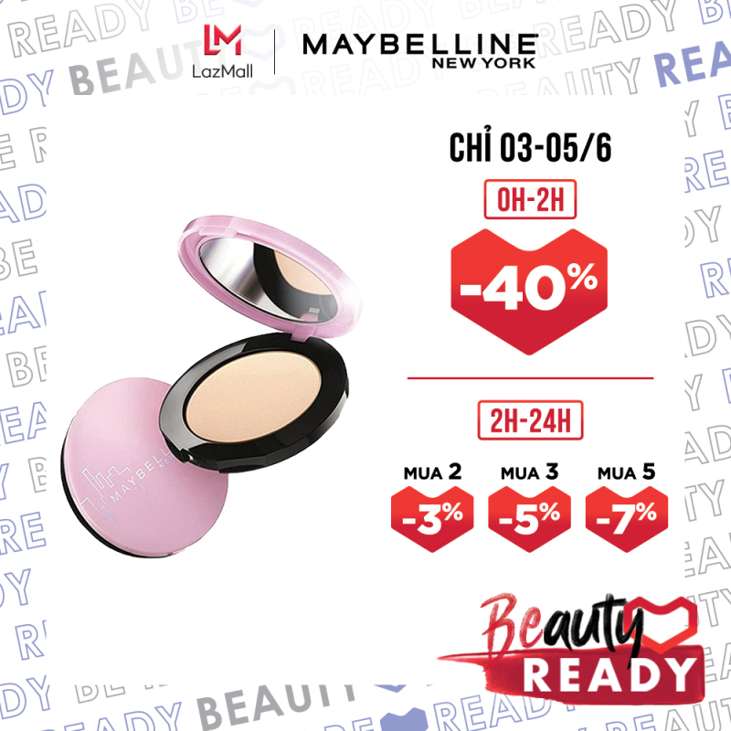 Phấn phủ mịn da kiềm dầu ngăn bóng nhờn Maybelline New York Clear Smooth All In One Pressed Powder 9g
