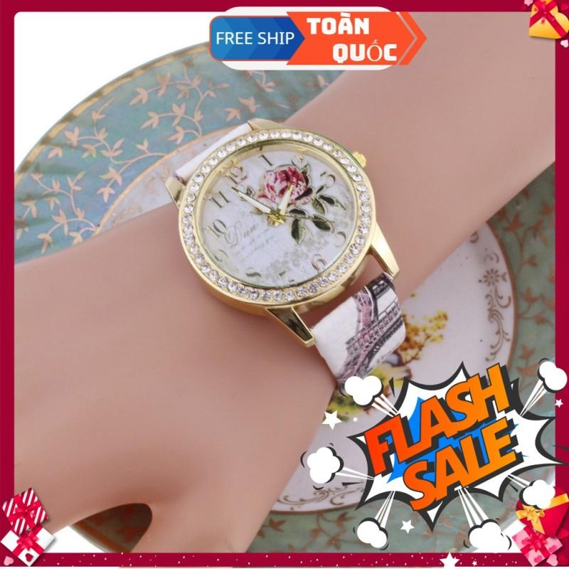 Đồng hồ nữ cao cấp Dan dây da mềm thiết kế xinh xắn sang trọng style Hàn Quốc, sản phẩm tốt, chất lượng vượt trội, độ bền cao, cam kết như hình